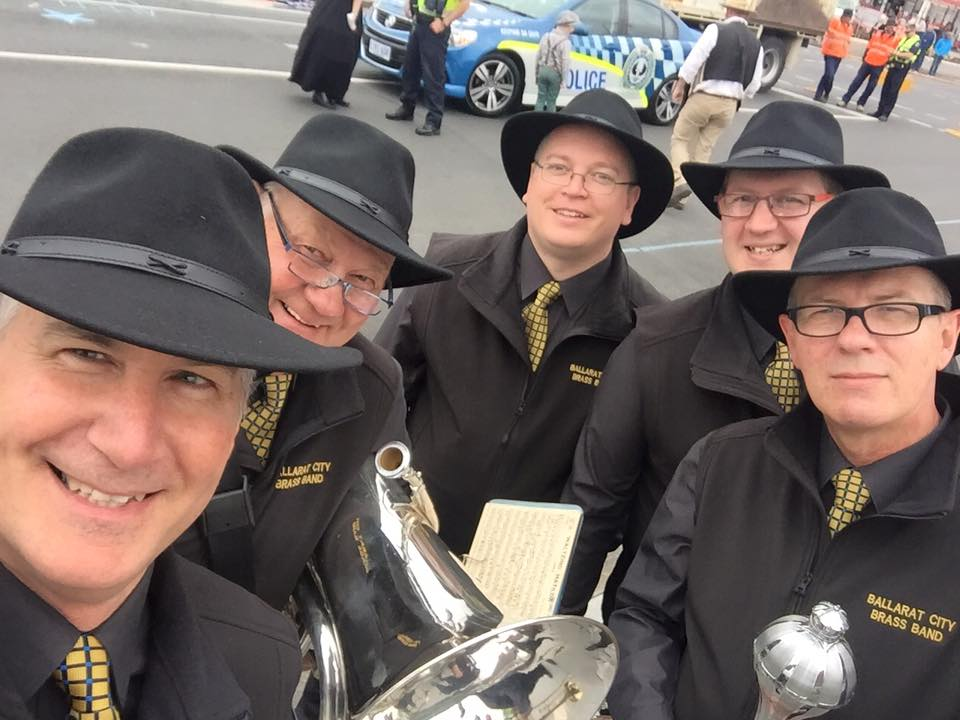 At the start of the Mt Gambier Christmas Parade